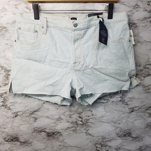 Gap High Rise Shorts 3' Size 33R Light Blue New